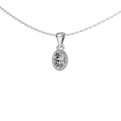 Hanger Seline ovl 585 witgoud diamant 0.59 crt