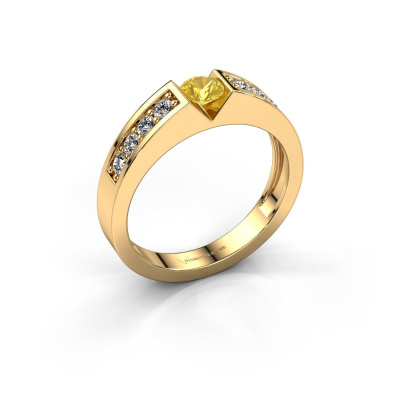 Engagement ring Lizzy 2 585 gold yellow sapphire 4.2 mm