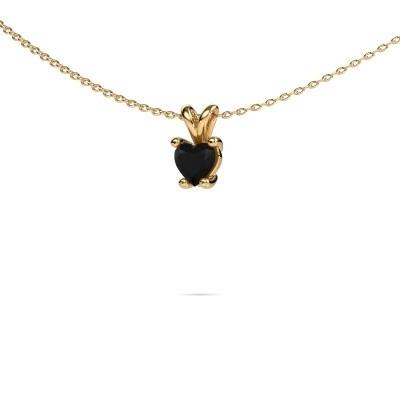Foto van Ketting Sam Heart 375 goud zwarte diamant 0.60 crt