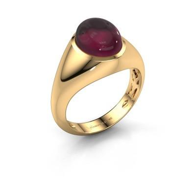 Ring Zaza 375 gold rhodolite 10x8 mm