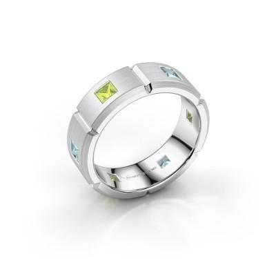 Foto van Heren ring Steve 925 zilver peridoot 3 mm