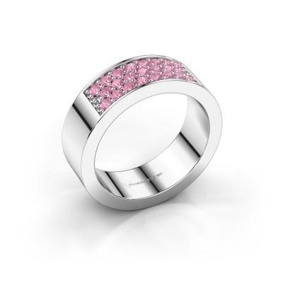 Ring Lindsey 5 950 platina roze saffier 1.7 mm