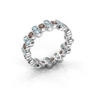 Foto van Ring Victoria 925 zilver rookkwarts 2.4 mm
