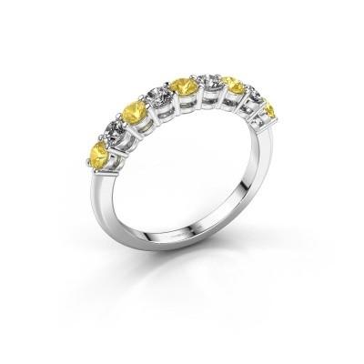 Foto van Belofte ring Michelle 9 585 witgoud gele saffier 2.7 mm
