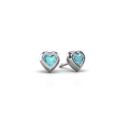 Picture of Stud earrings Charlotte 925 silver blue topaz 4 mm