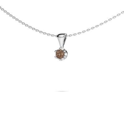Foto van Ketting Fran 950 platina bruine diamant 0.15 crt