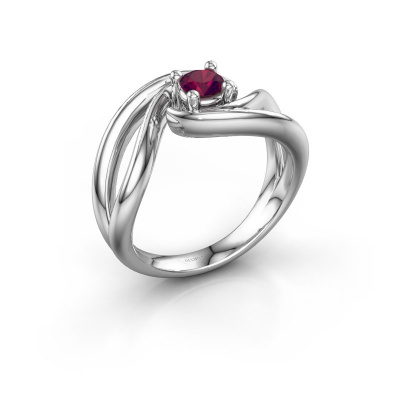 Ring Kyra 925 silver rhodolite 4 mm