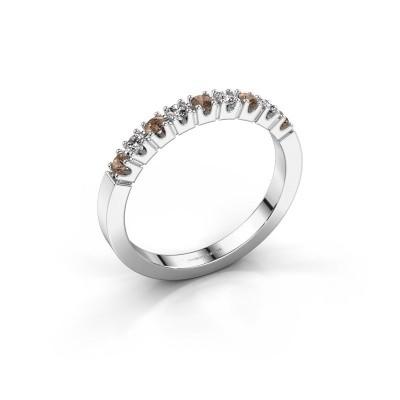 Foto van Verlovingsring Dana 9 585 witgoud bruine diamant 0.27 crt