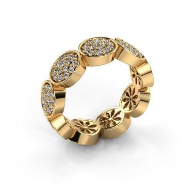 Foto van Ring Robin 375 goud diamant 0.945 crt