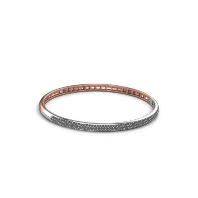 Picture of Bangle Emely 4mm 585 rose gold black diamond 1.409 crt