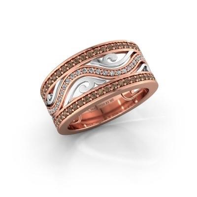 Bague Louvenia 585 or rose diamant brun 0.72 crt