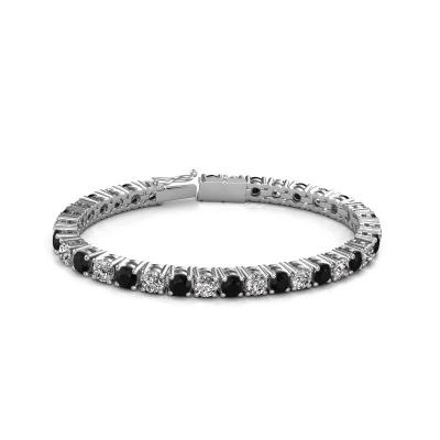 Foto van Tennisarmband Karin 5 mm 750 witgoud zwarte diamant 18.70 crt