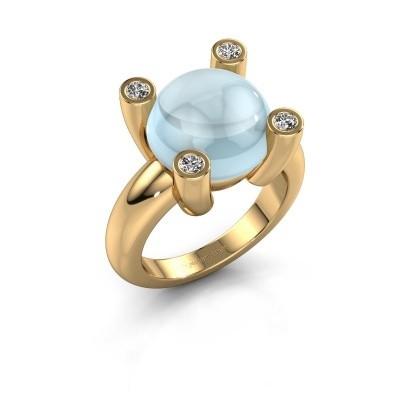 Foto van Ring Janice RND 585 goud aquamarijn 12 mm