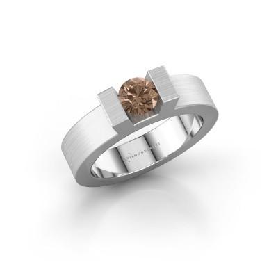 Foto van Ring Leena 1 585 witgoud bruine diamant 0.50 crt