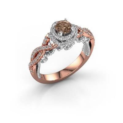 Verlobungsring Leora 585 Roségold Braun Diamant 0.83 crt