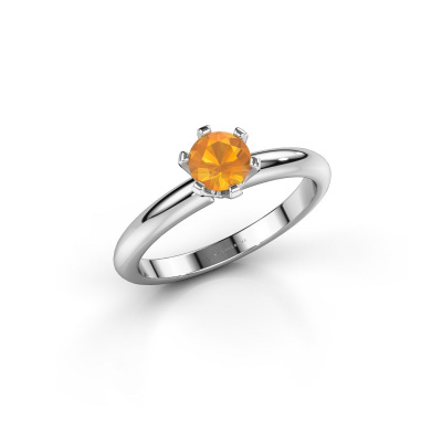 Picture of Engagement ring Tiffy 1 585 white gold citrin 5 mm