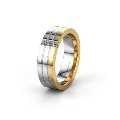 Wedding ring WH0428L16BP 585 gold zirconia ±6x2 mm