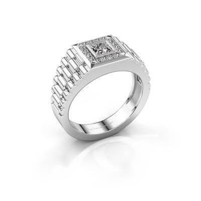 Foto van Heren ring Zilan 950 platina zirkonia 4 mm