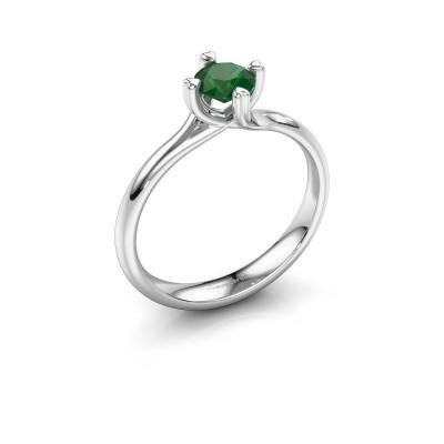 Verlobungsring Livia 950 Platin Smaragd 5 mm