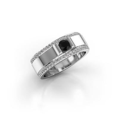 Foto van Herenring Danillo 585 witgoud zwarte diamant 0.765 crt