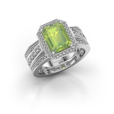 Picture of Ring Dodie 3 585 white gold peridot 9x7 mm