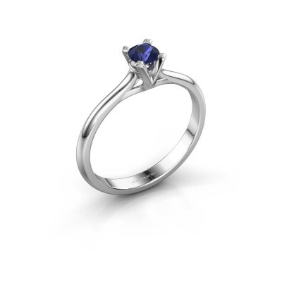 Picture of Engagement ring Isa 1 925 silver sapphire 4 mm