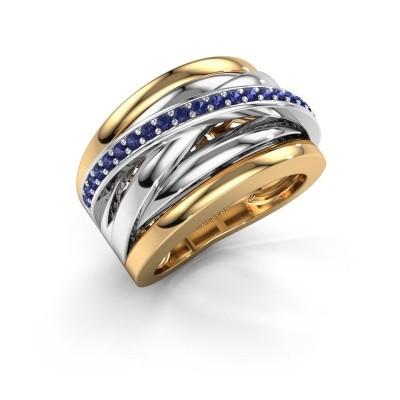 Foto van Ring Clair 1 585 goud saffier 1.5 mm