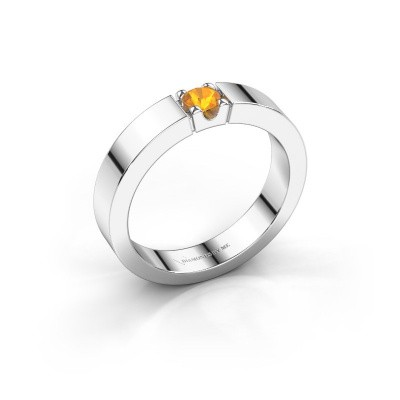 Picture of Engagement ring Dana 1 585 white gold citrin 3.7 mm