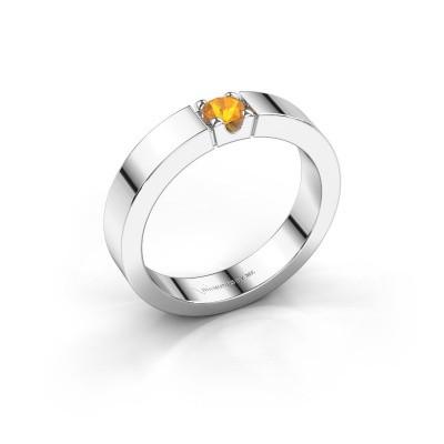 Foto van Belofte ring Dana 1 585 witgoud citrien 3.7 mm