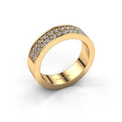 Aanschuifring Catharina 6 375 goud zirkonia 1.7 mm