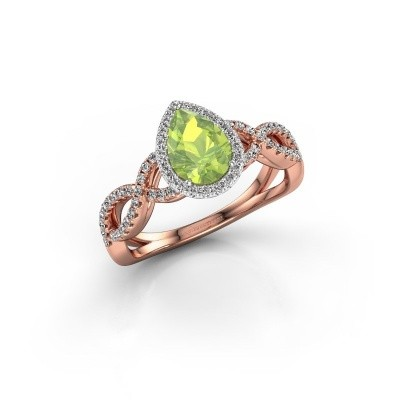Engagement ring Dionne pear 585 rose gold peridot 7x5 mm