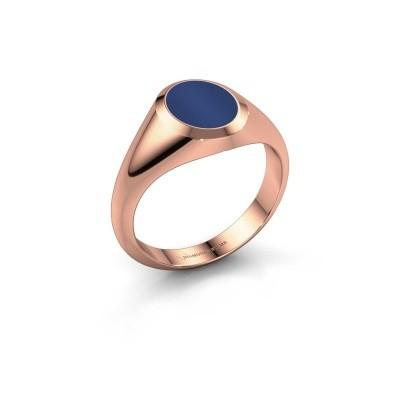 Foto van Pinkring Herman 1 375 rosé goud lapis lazuli 10x8 mm