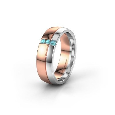 Wedding ring WH0223L56A 585 rose gold blue topaz ±0.24x0.07 in