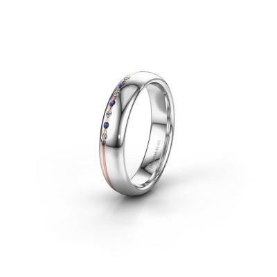 Friendship ring WH2144L34A 585 white gold sapphire ±0.16x0.07 in