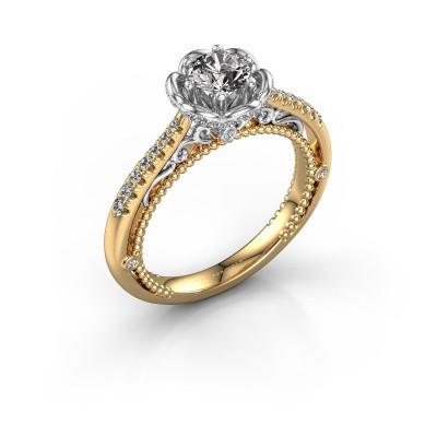 Foto van Aanzoeksring Abbey 585 goud diamant 0.782 crt