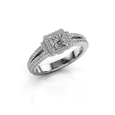 Foto van Verlovingsring Antoinette 585 witgoud diamant 1.004 crt