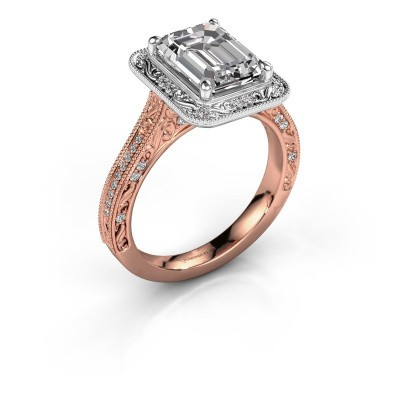 Engagement ring Alice EME 585 rose gold diamond 2.605 crt