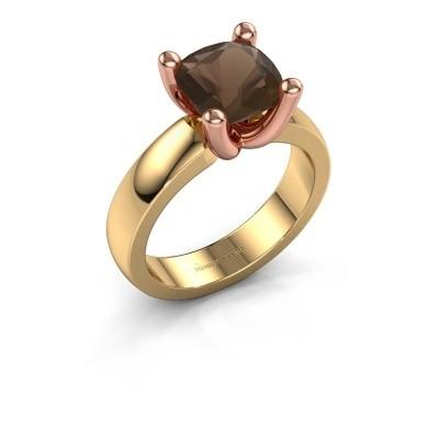 Ring Clelia CUS 585 goud rookkwarts 8 mm