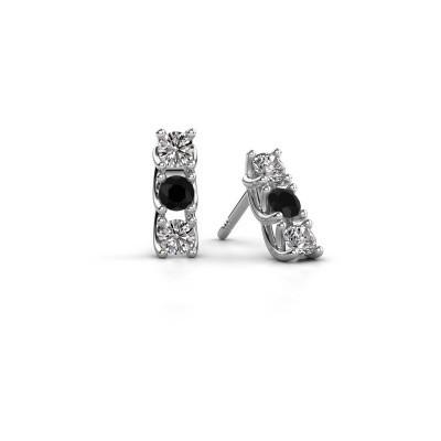 Foto van Oorbellen Fenna 925 zilver zwarte diamant 0.64 crt