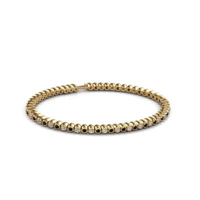 Picture of Tennis bracelet Bianca 2 mm 375 gold black diamond 1.980 crt