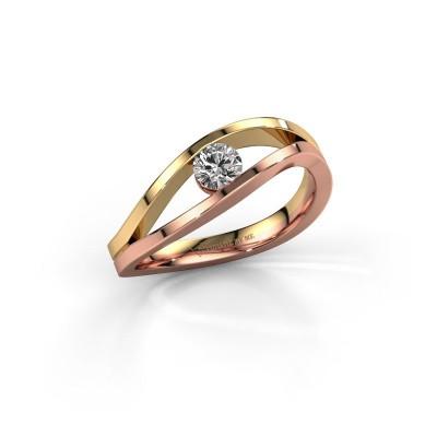 Foto van Ring Sigrid 1 585 rosé goud lab-grown diamant 0.25 crt