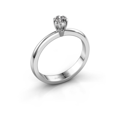 Verlovingsring Julia 585 witgoud diamant 0.10 crt