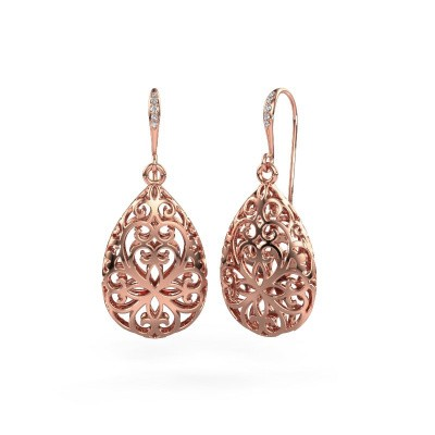 Photo de Pendants d'oreilles Idalia 1 585 or rose diamant 0.033 crt
