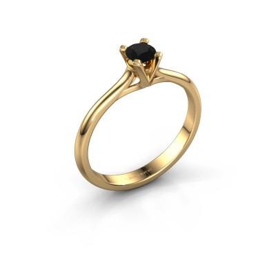 Foto van Verlovingsring Isa 1 375 goud zwarte diamant 0.30 crt