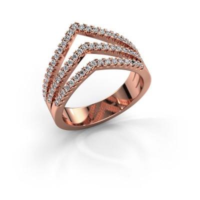 Foto van Ring Kendra 375 rosé goud diamant 0.488 crt