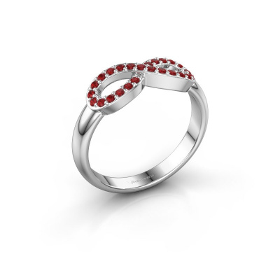 Ring Infinity 2 950 platina robijn 1.2 mm
