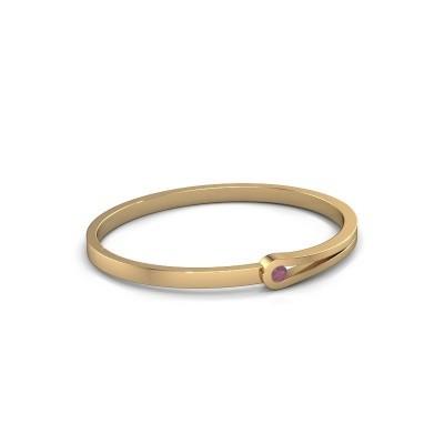 Bracelet jonc Kiki 585 or jaune rhodolite 4 mm