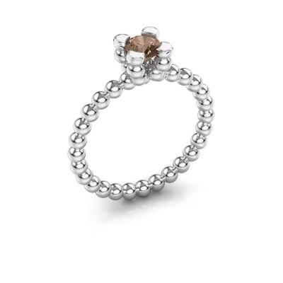 Ring Aurore 585 witgoud bruine diamant 0.50 crt