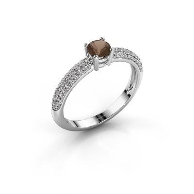 Picture of Ring Marjan 585 white gold smokey quartz 4.2 mm