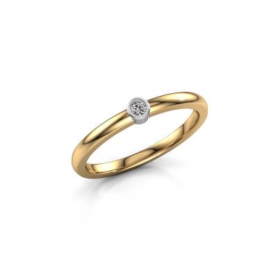 Ring Ise 1 585 gold diamond 0.03 crt